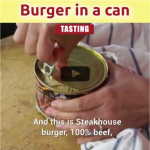 hamburger in a can tasting video